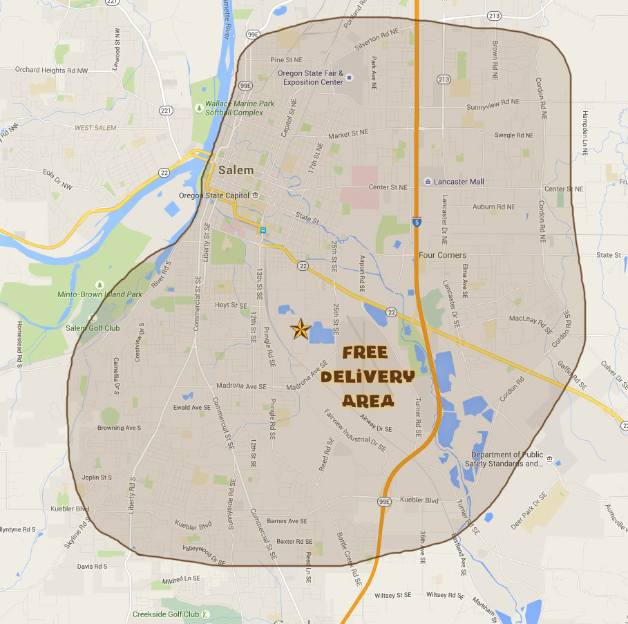 Black Sheep Catering free delivery map