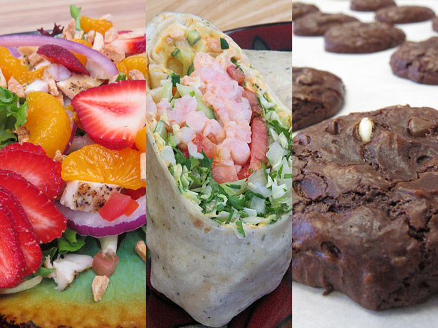 Salads, wraps, sides and cookies